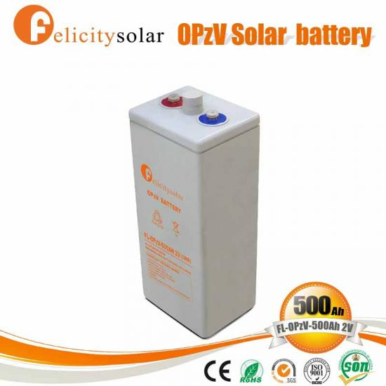 Tubular Plate Gel Battery OPZV 2v 500ah Battery for Telecommunication Equipment